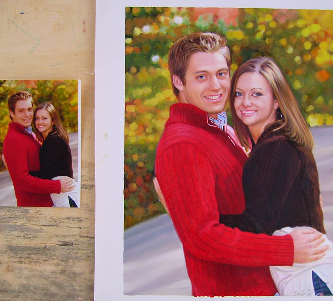 Custom family portrait,Custom oil painting,Hand painted oil portrait from photos,Portrait painting on canvas