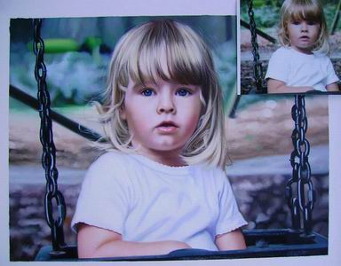 Custom Child Portrait,Oil Portrait Painting On Canvas,Original Hand Painted Oil Painting From Photo
