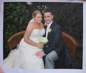 Custom Wedding Portrait,Oil Portrait Painting On Canvas,Original Hand Painted Oil Painting From Photo