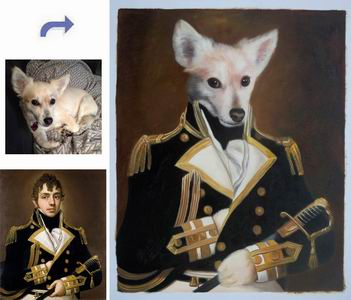 Custom Pet Portrait,History Oil Portrait,Royal Portrait,Paint Face On Famous Painting,Original Hand Painted Oil Painting From Photo
